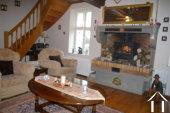 Cosy salon with wood burner