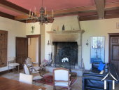<en>grand salon with Burgundy stone fireplace</en>