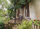 la terrasse ombragée en été