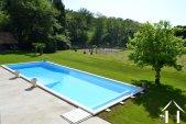 Maison de maître avec piscine, gîte et cour de tennis