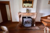 wood burner in salon
