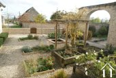 Landscaped courtyard garden