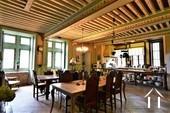 Salle à manger avec plafond à la française peint