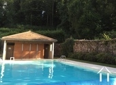 Pool house with facilities