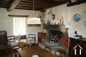 cuisine avec cheminée à feu ouvert