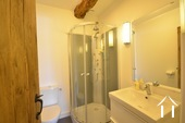 shower room with toilet en suite to bedroom 2 of guest house