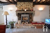 fire place with wood burner