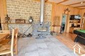 poêle à bois dans la veranda