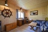 salon avec poêle à granulés ( possible chambre 4)